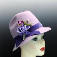 Lavender Wool Felt Fedora