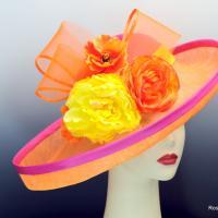 Pink and Orange Derby Hat