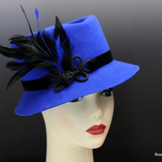 Sapphire Blue Wool Felt Hat