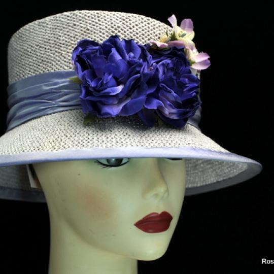 Lavender Straw Hat