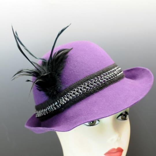 Purple Wool Felt Derby Style